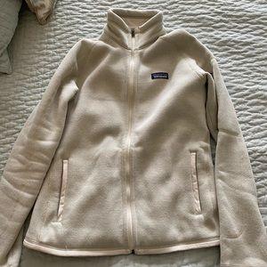 Cream Patagonia better sweater full zip -brand new